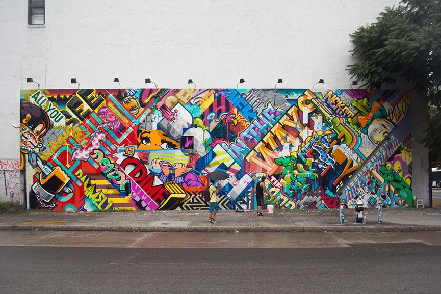 colorful mural art